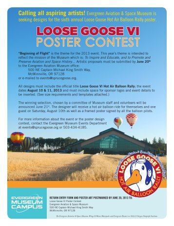 loose goose vi poster contest - Evergreen Aviation & Space Museum