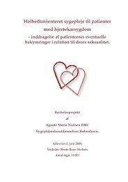 Helhedsorienteret sygepleje til patienter med hjertekarsygdom