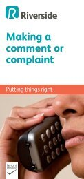 Making a comment or complaint - Riverside