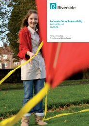 Corporate Social Responsibility Annual Report, 2009/10 - Riverside
