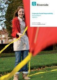 Corporate Social Responsibility Annual Report, 2009/10 - Riverside