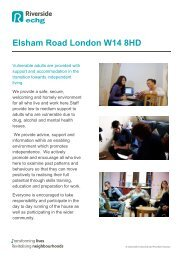 Elsham Road London W14 8HD service - Riverside