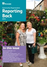 Community Regeneration: Reporting Back 2012 - Riverside