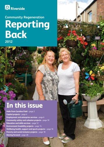 Community Regeneration: Reporting Back 2012 - Riverside