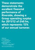 Group Financial Statements 2012 - Riverside - Page 2
