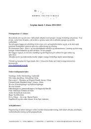 Lene årsplan 3. klasse 2012-13
