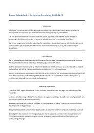 Rønne Privatskole – Bestyrelsesberetning 2012-2013