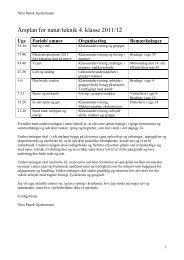 Årsplan for natek 4. klasse 11-12