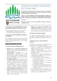 SÉANCE DU CONSEIL COMMUNAL DU 13 JUIN 2008 - Roeser