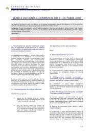 SÉANCE DU CONSEIL COMMUNAL DU 11 OCTOBRE 2007 - Roeser