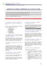 SÉANCE DU CONSEIL COMMUNAL DU 14 JUILLET 2006 - Roeser