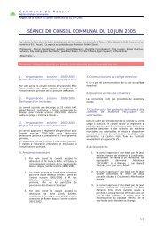 SÉANCE DU CONSEIL COMMUNAL DU 10 JUIN 2005 - Roeser