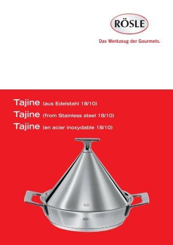 Tajine (aus Edelstahl 18/10) Tajine (from Stainless steel 18 ... - Rösle