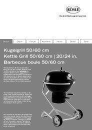 Kugelgrill 50 / 60 cm Kettle Grill 50 / 60 cm | 20 / 24 in ... - Rösle