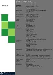 Green PC Pro-Q1 K Datenblatt