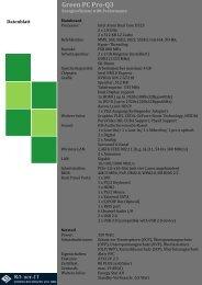 Green PC Pro-Q3 Datenblatt