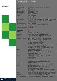 Workstation GT-WS K Datenblatt