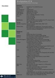 Workstation GT K Datenblatt