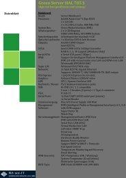 Green Server HAL-785 S Datenblatt