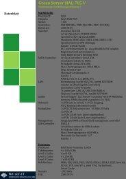 Green Server HAL-785 V Datenblatt