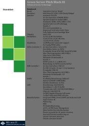 Green Server Pitch Black III Datenblatt