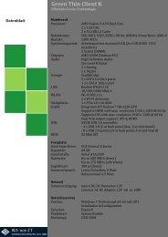 Green Thin Client K Datenblatt