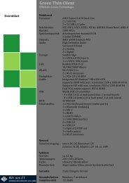 Green Thin Client Datenblatt