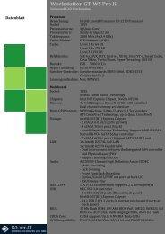 Workstation GT-WS Pro K Datenblatt
