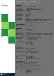Green Server Pro-Flex BSX Datenblatt