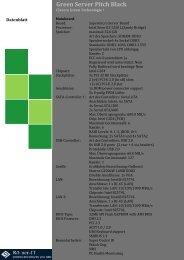 Green Server Pitch Black Datenblatt
