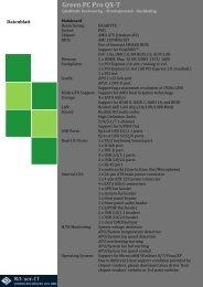 Green PC Pro QX-T Datenblatt