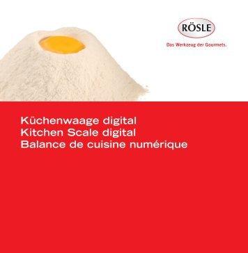 Küchenwaage digital Kitchen Scale digital Balance de ... - Rösle