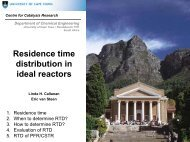 Residence time distribution in ideal reactors