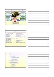 Handzettel der Folien - Teil 1 - Technische Chemie 2 Rößner
