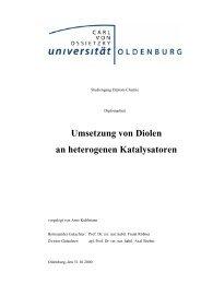 Umsetzung von Diolen an heterogenen Katalysatoren - Technische ...