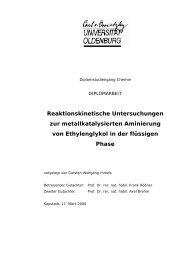 Reaktionskinetische Untersuchungen zur metallkatalysierten ...