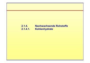 Folien der Vorlesung - Technische Chemie 2 Rößner