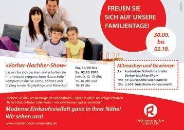 Postkarte Gewinnspiel - Röthenbach Center