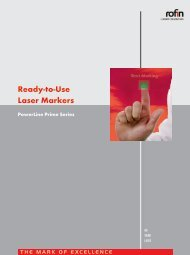 Ready-to-Use Laser Markers PowerLine Prime Series - Rofin