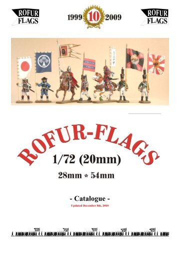 ROFUR-FLAGS PDF catalogue including trader´s adresses (ca. 1 MB)