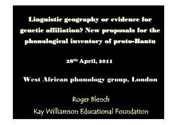 Blench London phonology 2011.pdf - Roger Blench