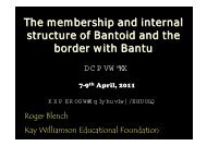 The membership and internal structure of Bantoid ... - Roger Blench