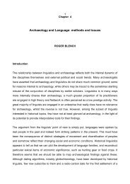 Language and archaeology - Roger Blench