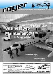Business Jet - Roger - Luftfahrtnachrichten für Berlin und Brandenburg