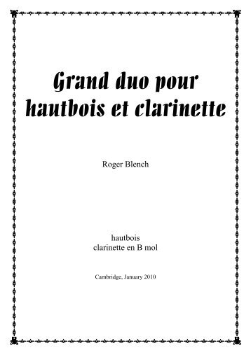Oboe and clarinet duo score.pdf - Roger Blench