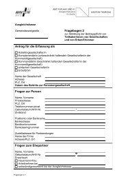 Fragebogen 2 Antrag für die Erfassung als Fragen zur Person ...