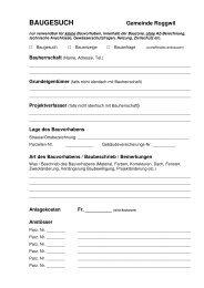 Baugesuch Vereinfachtes Verfahren - Gemeinde Roggwil