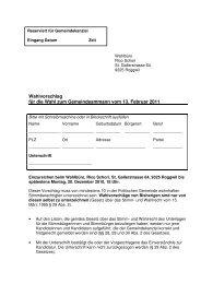 Wahlvorschlag Gemeindeammann 2011 - Gemeinde Roggwil