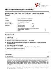 Protokoll Gemeindeversammlung - Gemeinde Roggwil