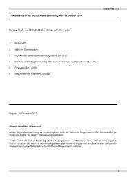 Budget 2013 - Gemeinde Roggwil